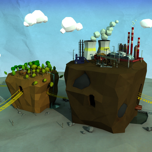 Low Poly Scene - 3DOcean Item for Sale