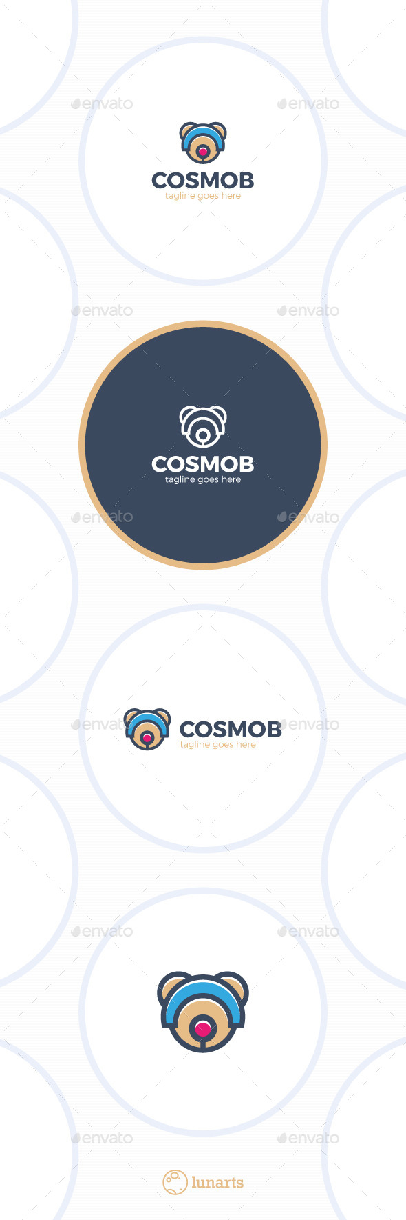 GraphicRiver Space Bear Logo Cosmo 11909638