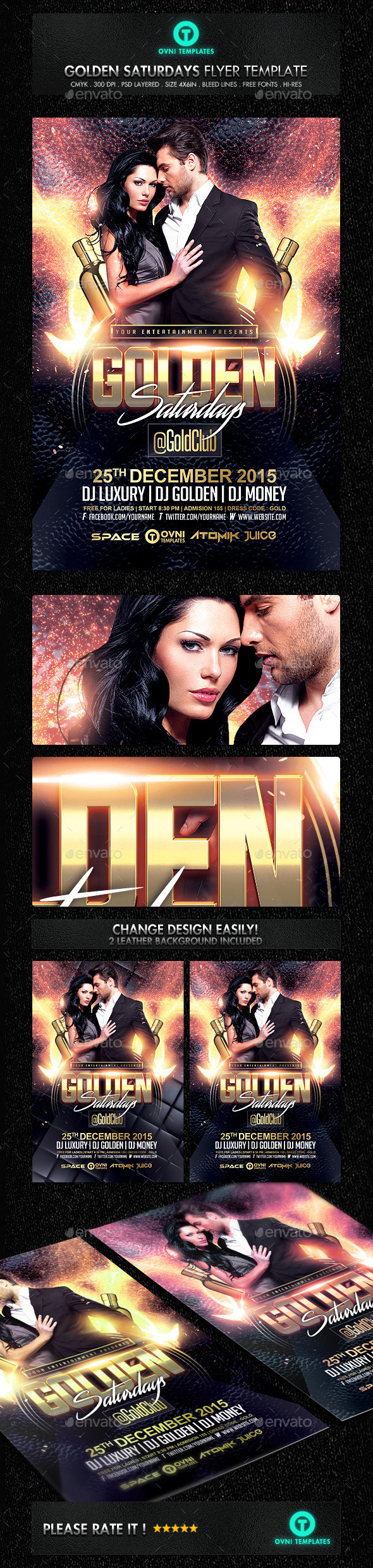 GraphicRiver Golden Fire Flyer Template 11909685