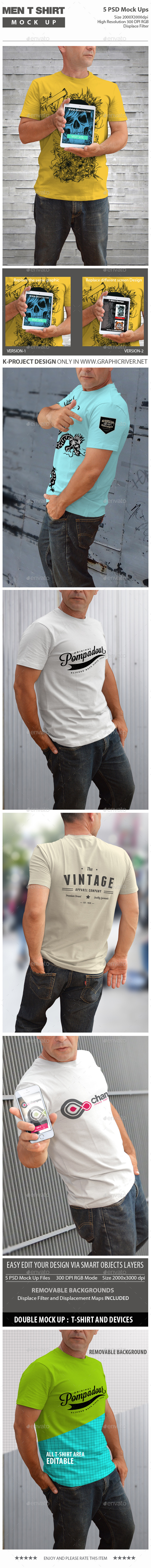 GraphicRiver Men T-Shirt Mock Up 11909795