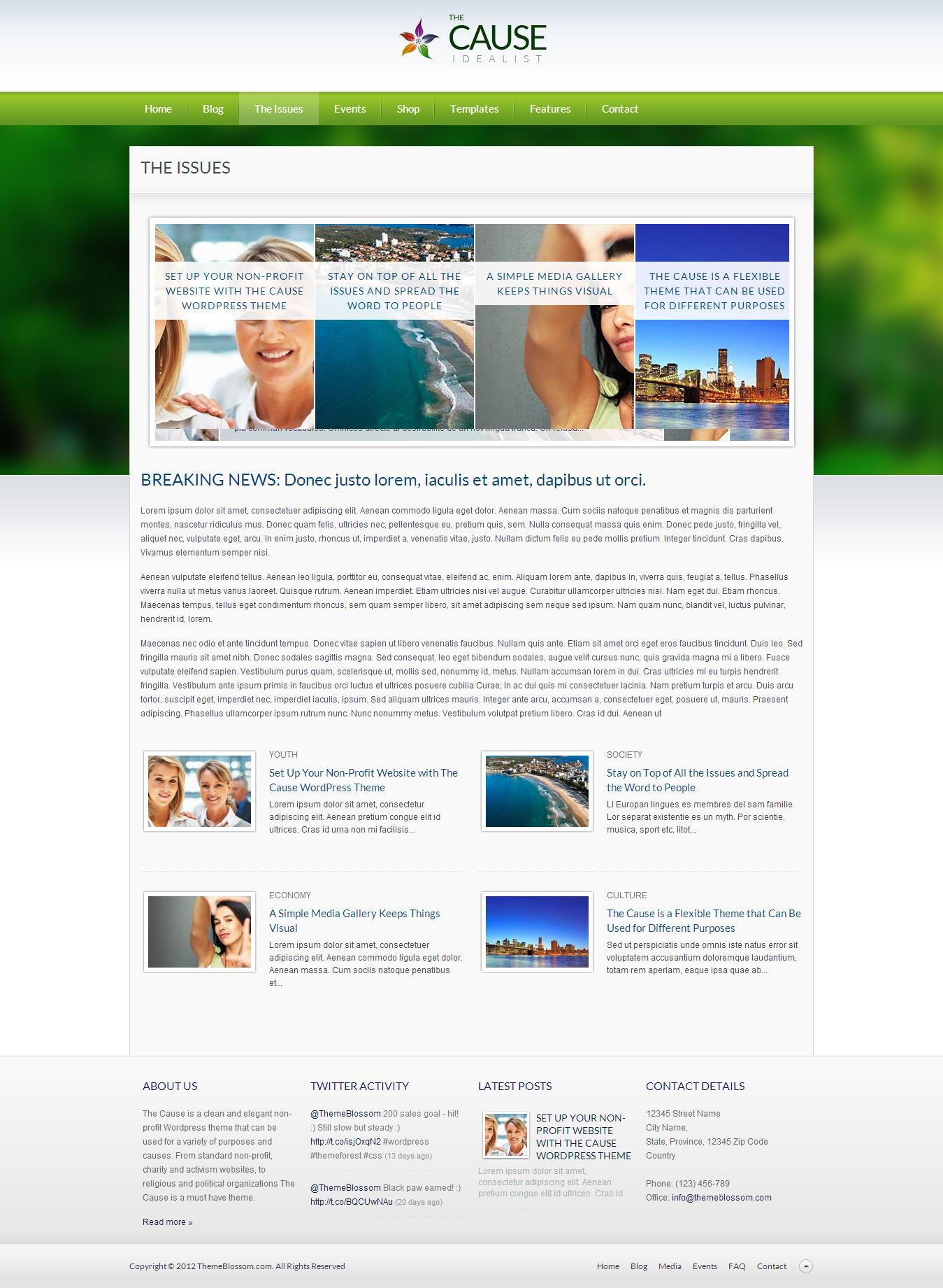 The Cause - Non-Profit WordPress Theme