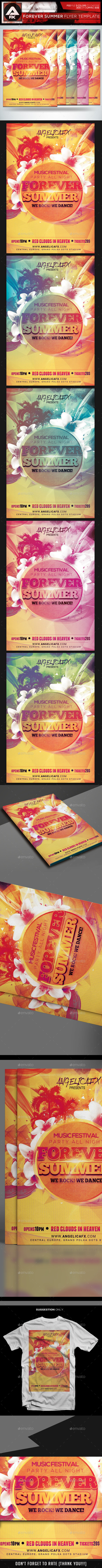 GraphicRiver Forever Summer Flyer Template 11911437