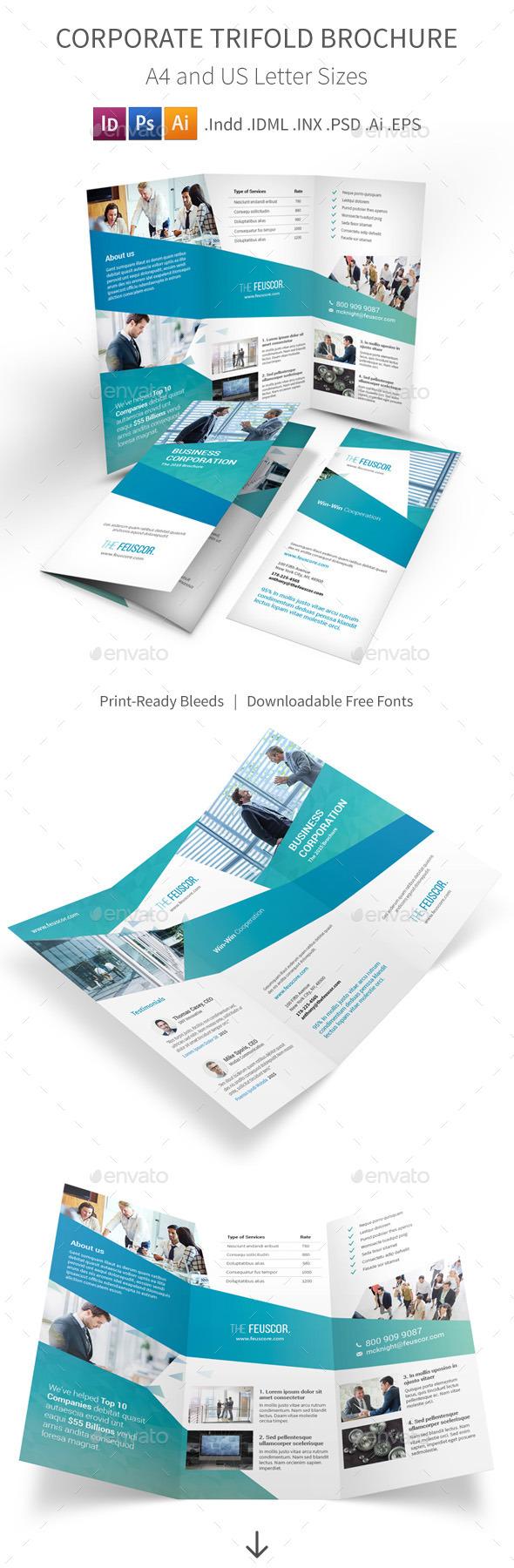 GraphicRiver Corporate Company Trifold Brochure 11911479