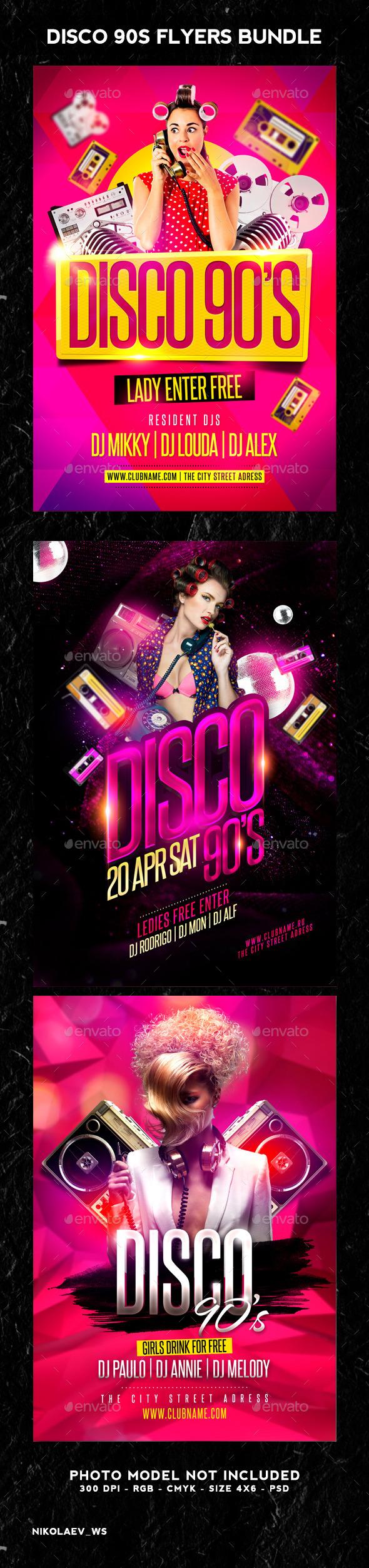 GraphicRiver Disco Party 90s Bundle 11911485