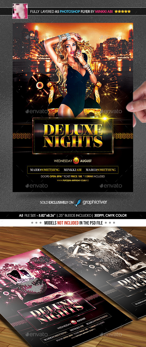 GraphicRiver Deluxe Nights Poster Flyer 11911659