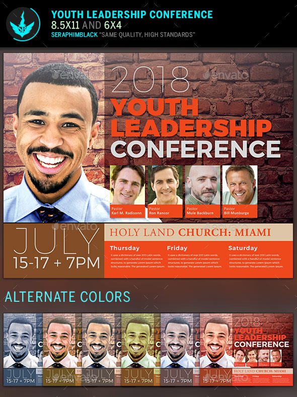 GraphicRiver Youth Leadership Conference Flyer Template 11911981