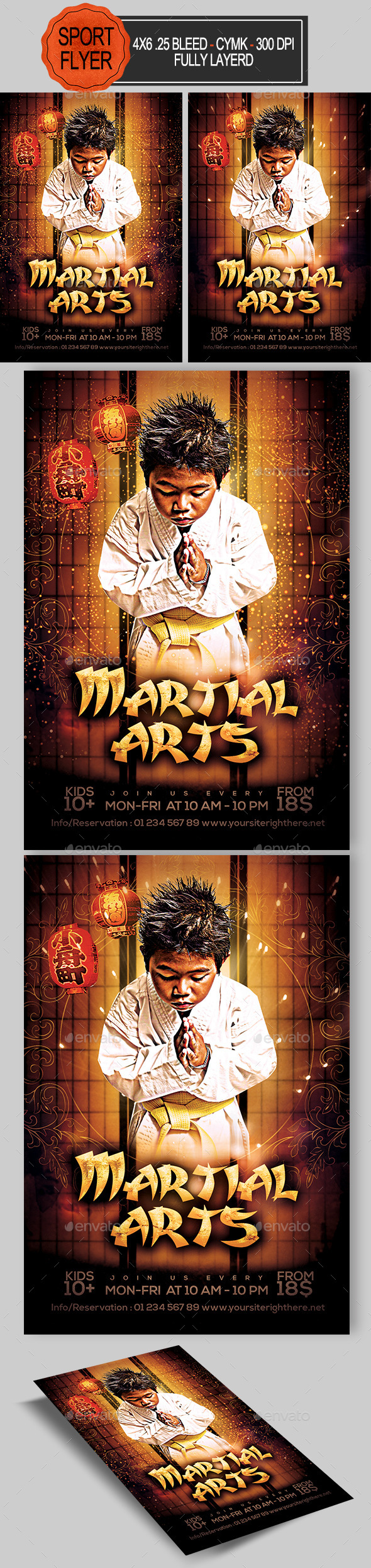 GraphicRiver Martial Arts Flyer 11912056