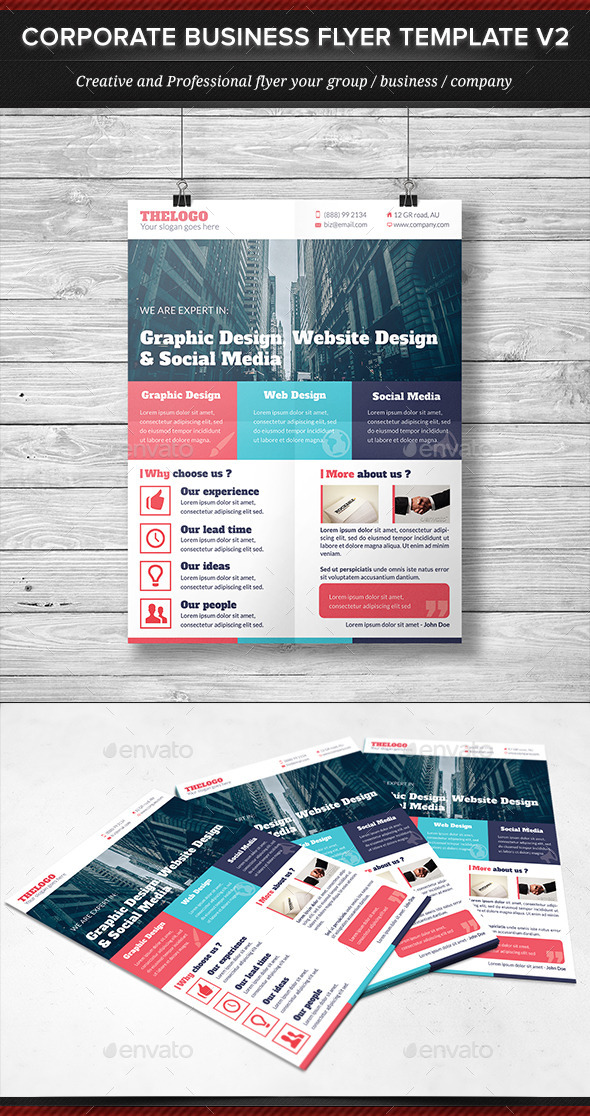 GraphicRiver Corporate Business Flyer Template V2 11883169