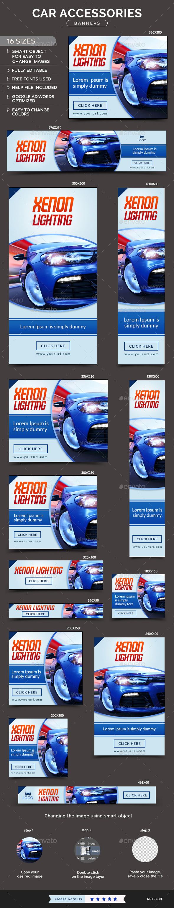 GraphicRiver Car Accessories Banners 11912223