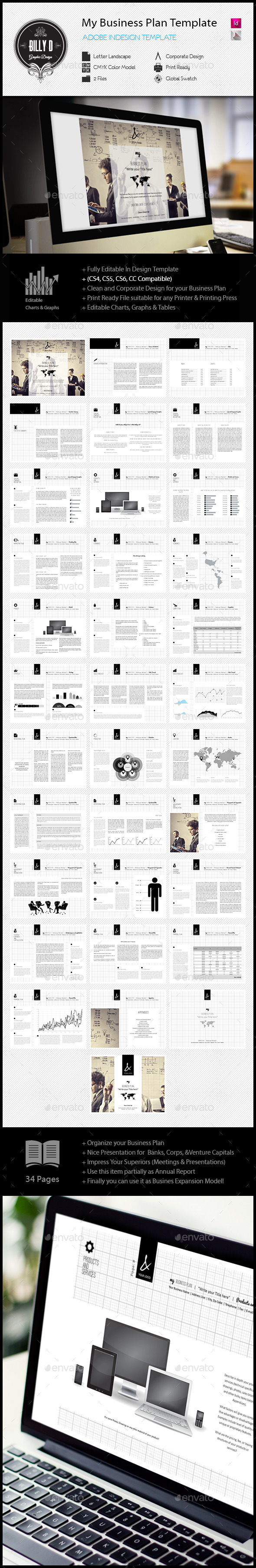 GraphicRiver My Business Plan Digital Template 11912227
