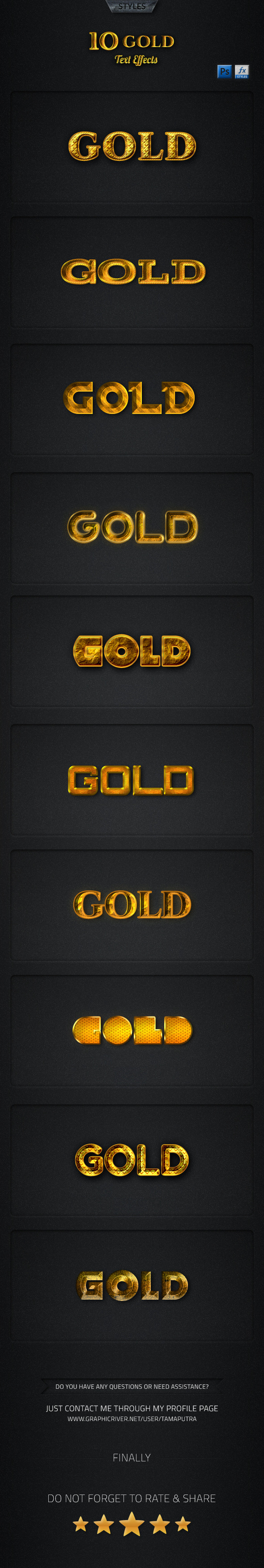 GraphicRiver Gold Text Effect 11912266