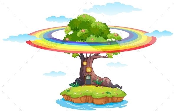 GraphicRiver Rainbow and Island 11912367