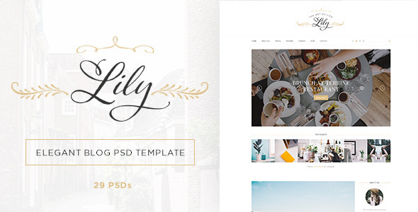 Lily – Elegant Blog Psd Template (Miscellaneous) Download