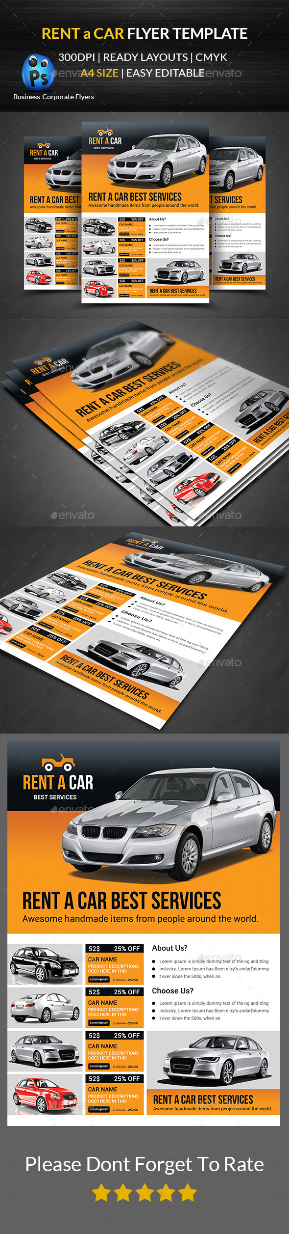 GraphicRiver Rent a Car Flyer Template 11912620