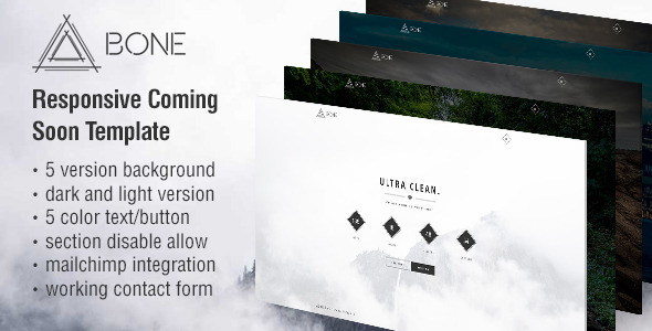 ThemeForest BONE Responsive Coming Soon Template 11863957
