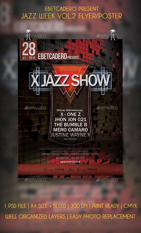 GraphicRiver Jazz Week Flyer Poster Vol.2 11912695