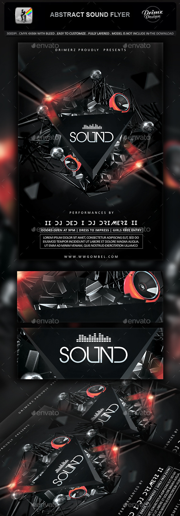 GraphicRiver Abstract Sound Flyer 11912778