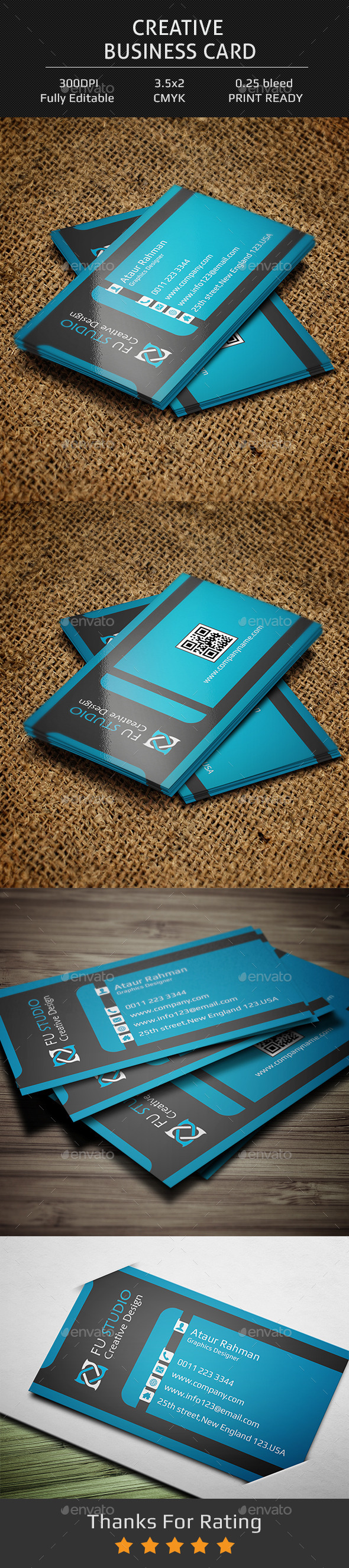 GraphicRiver Creative Business Card V6 11912789