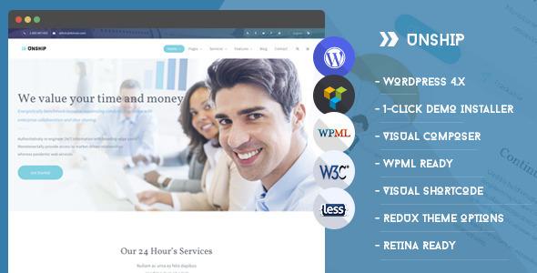 ThemeForest Unship TransPort WordPress Theme 11734457