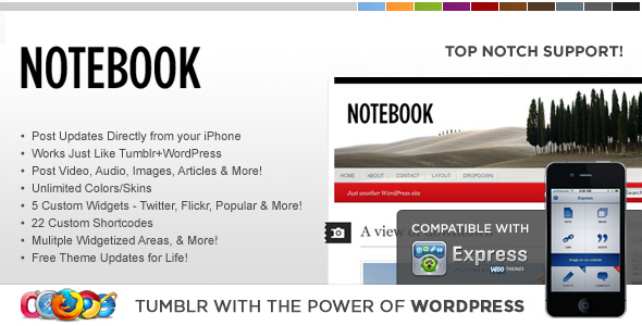 WP Notebook WordPress Theme