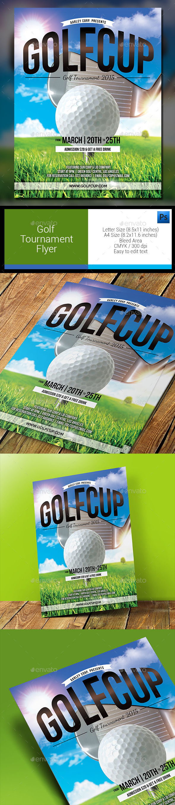 GraphicRiver Golf Tournament Flyer 11913065