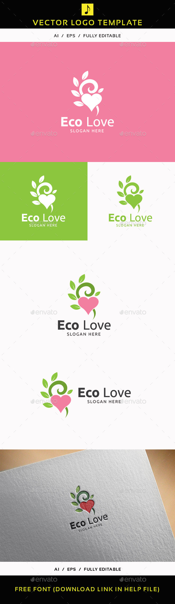 GraphicRiver Eco Love 11913333