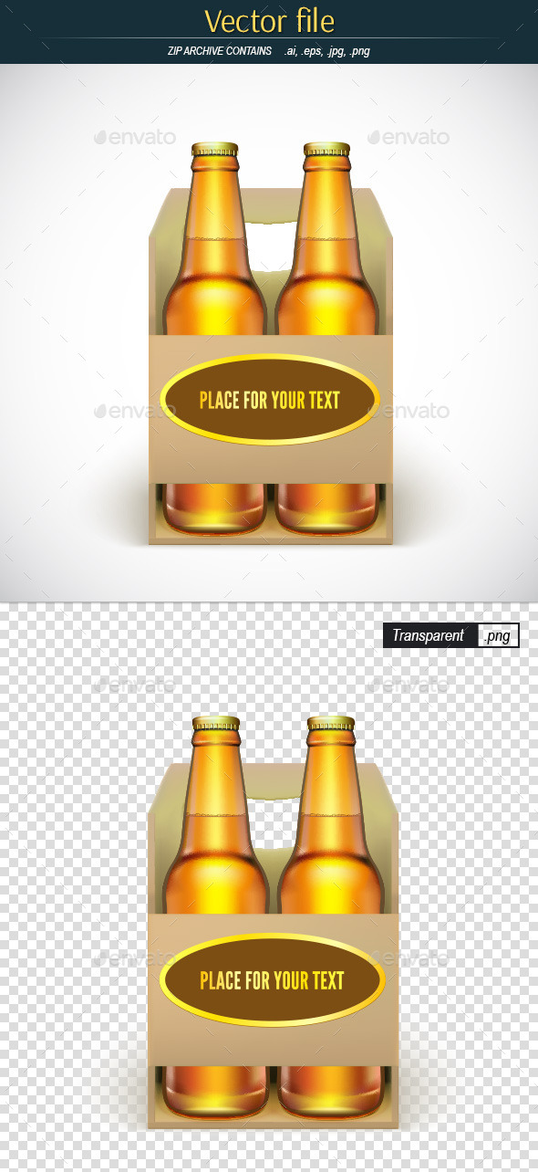 GraphicRiver Packaging of Beer with Place for Your Text 11913391