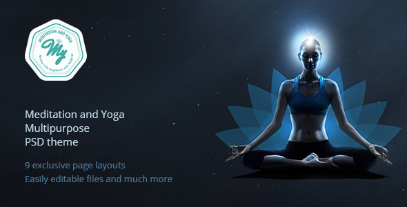 ThemeForest Meditation and Yoga Multipurpose PSD Template 11828428