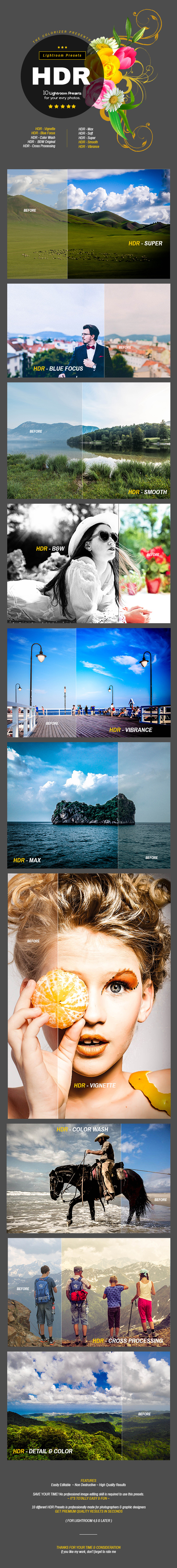 GraphicRiver HDR Lightroom Presets 11913418