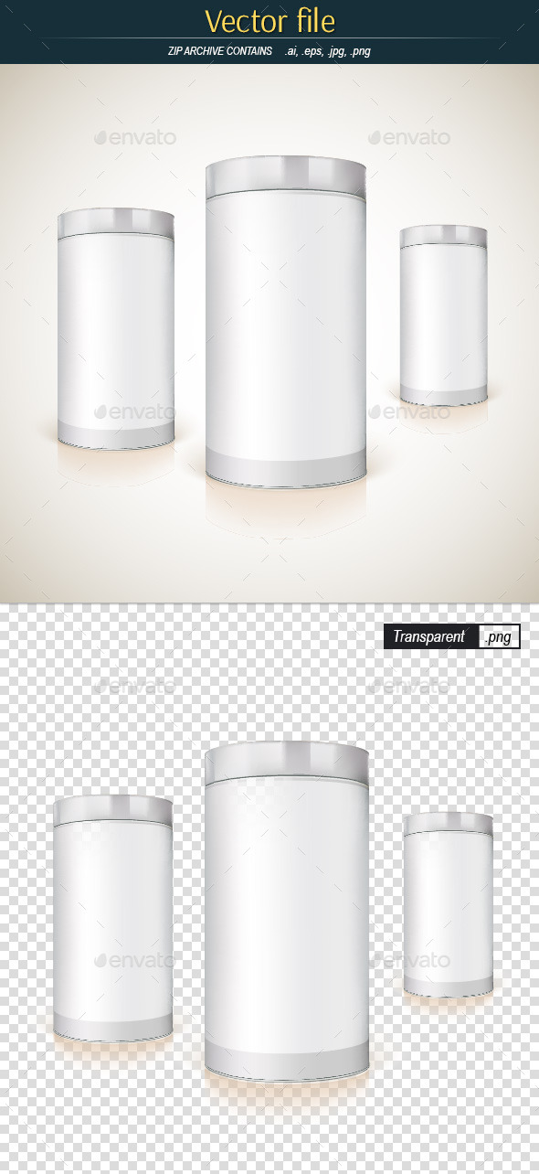 GraphicRiver Round Packaging Template for Product Design 11913437