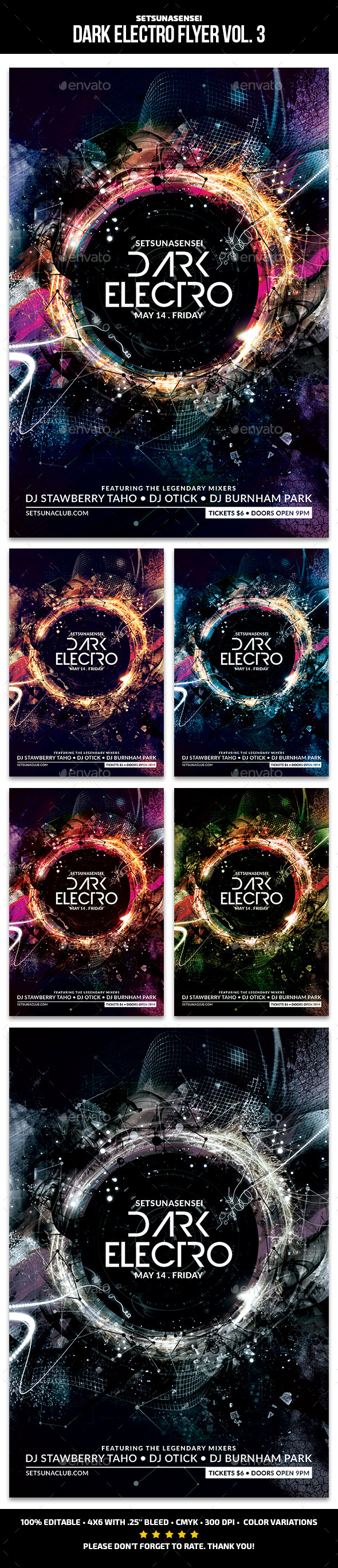 GraphicRiver Dark Electro Flyer Vol 3 11913524
