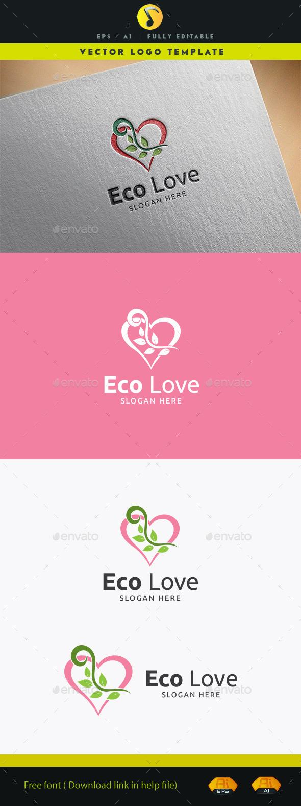 GraphicRiver Eco Love Logo 11913661