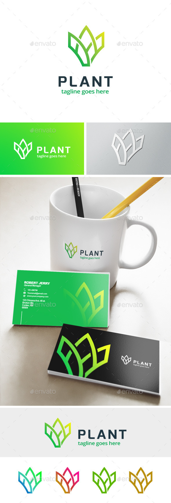 GraphicRiver Plant Farm Logo 11913830