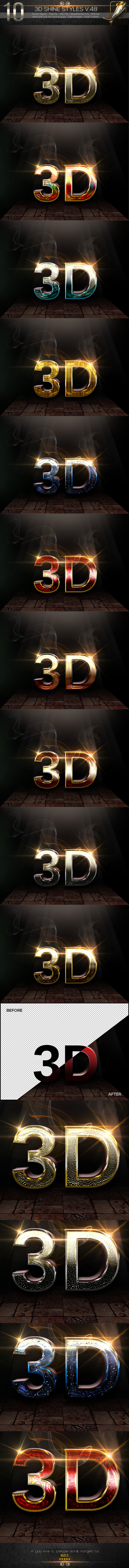 GraphicRiver 10 3D Text Style V.48 11913834