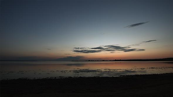 Beach after Sunset Panorama