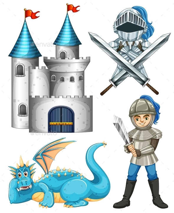 GraphicRiver Knight and Dragon 11914121