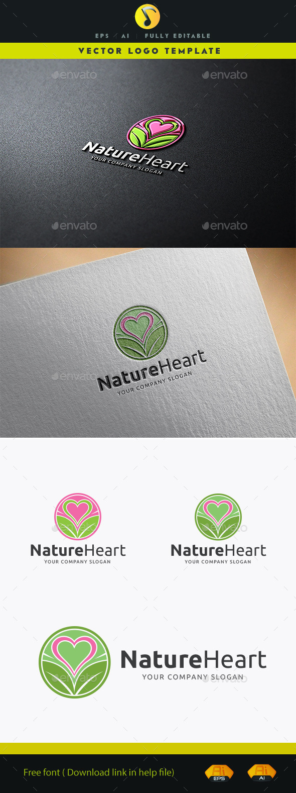 GraphicRiver Nature Heart 11914202