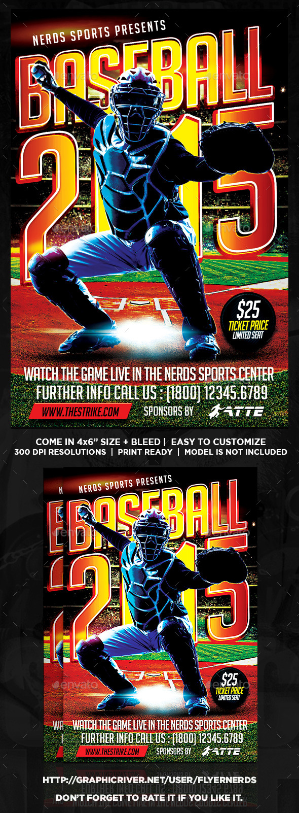 GraphicRiver Baseball 2K15 Sports Flyer 11914396