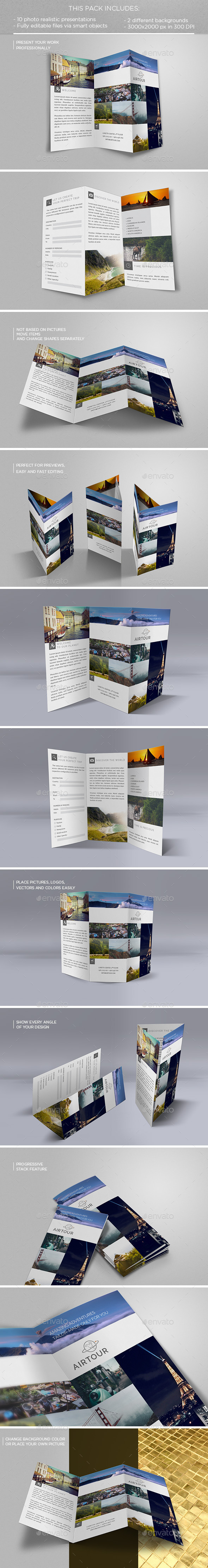 GraphicRiver Tri-fold Flyer Mockup 11826532