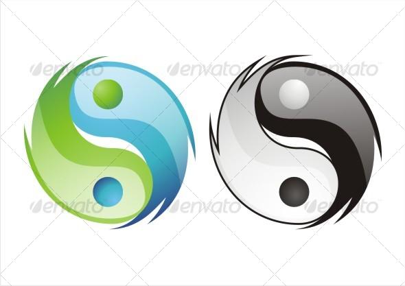 Cool Ying Yang Decorative Symbols Decorative