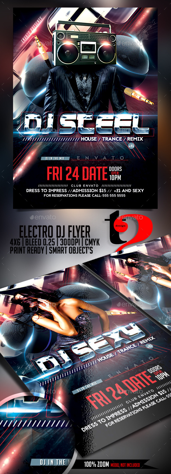 GraphicRiver DJ Flyer Template 11914761