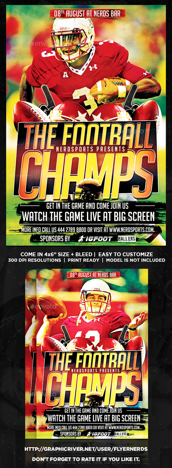 GraphicRiver Football Championships Sports Flyer 11914806