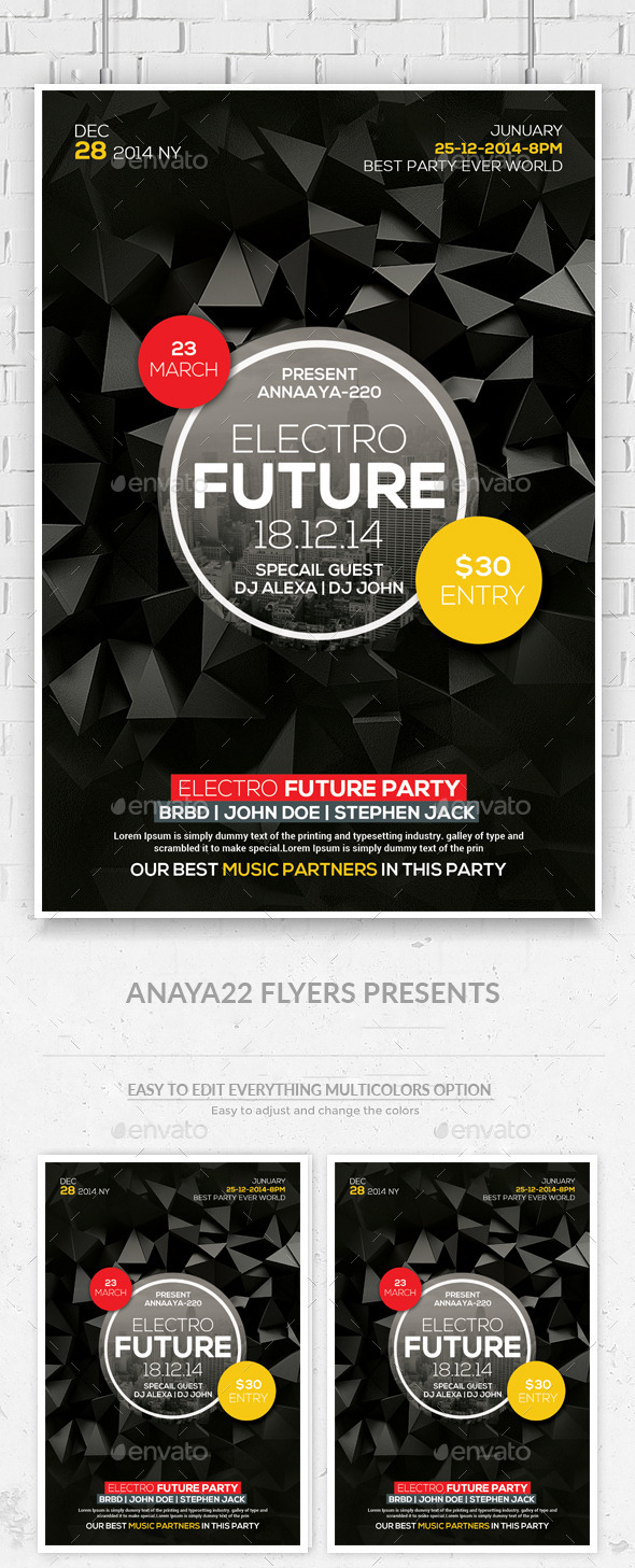 GraphicRiver Futuristic Flyer Templates 11914813