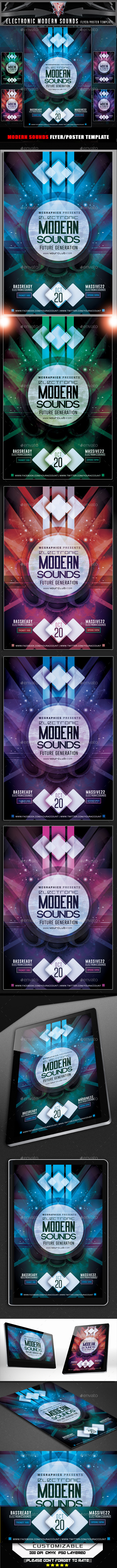 GraphicRiver Electronic Modern Sounds Flyer Template 11914967