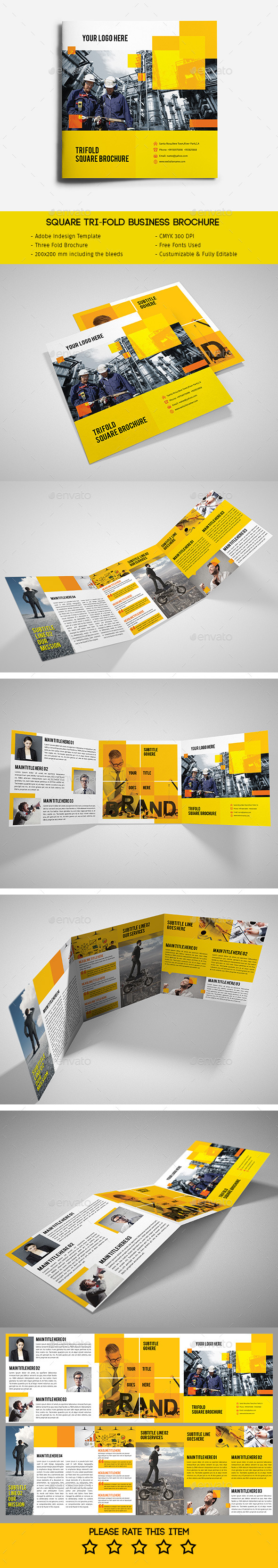 GraphicRiver Square Tri-Fold Business Brochure 11915043