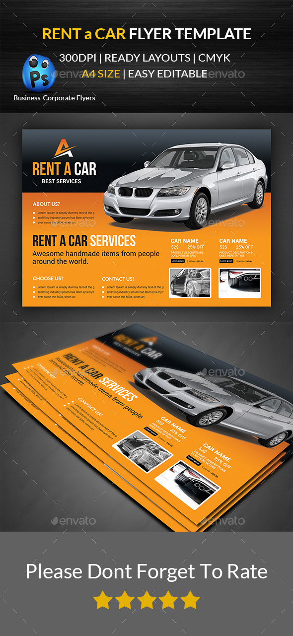 GraphicRiver Rent a Car Flyer Template 11915067