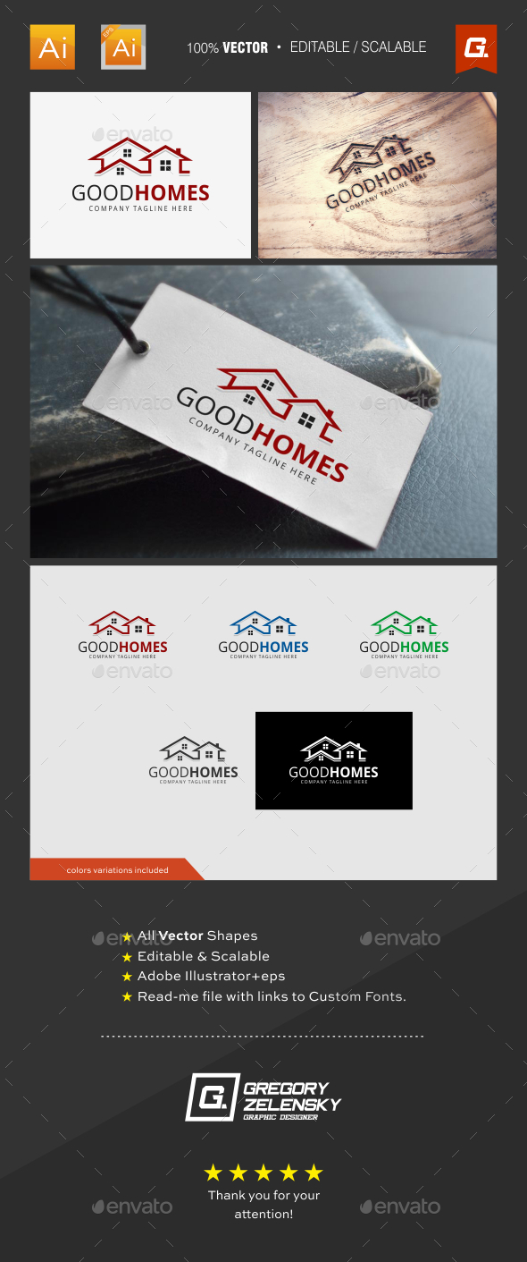 GraphicRiver Real Estate Logo Template 11893740