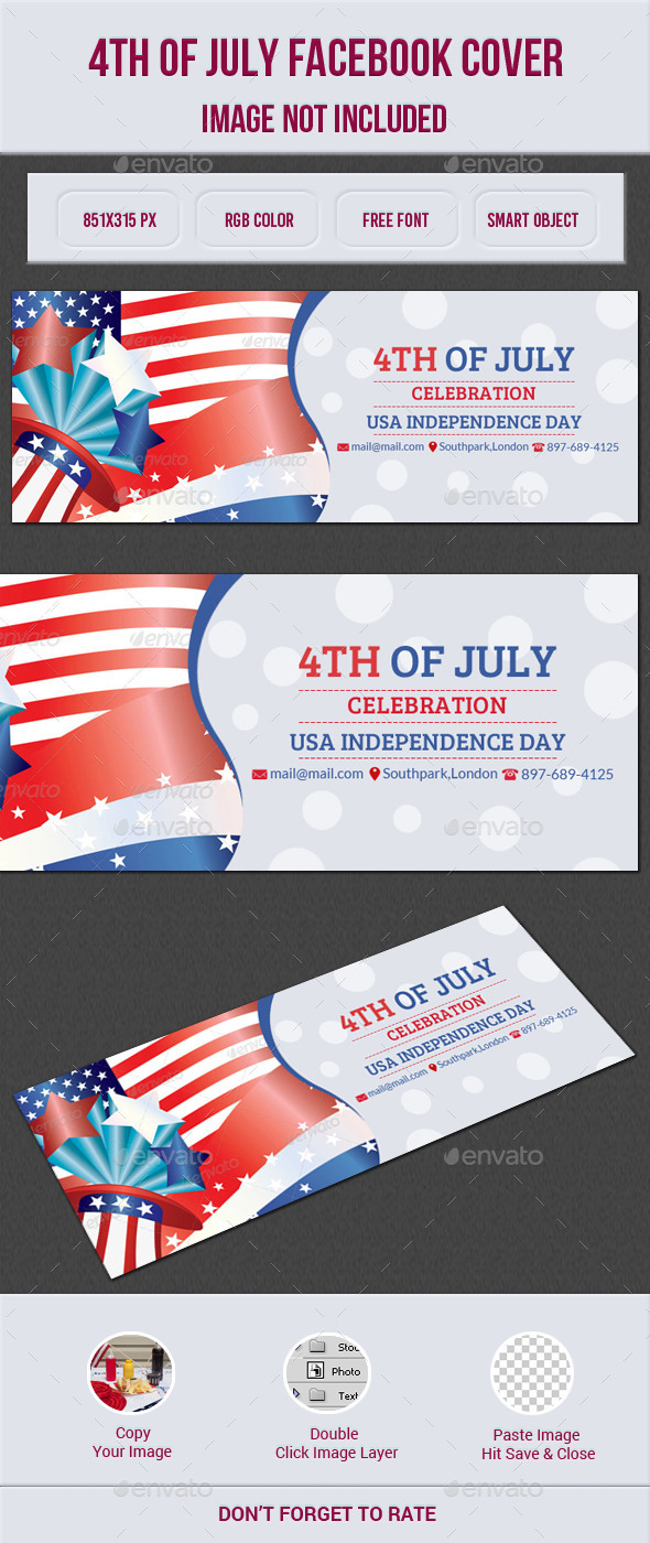 GraphicRiver 4th Of July Facebook Cover 11915153