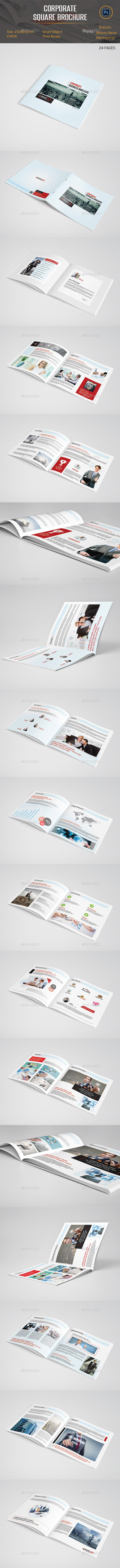 GraphicRiver Corporate Square Brochure 11915259