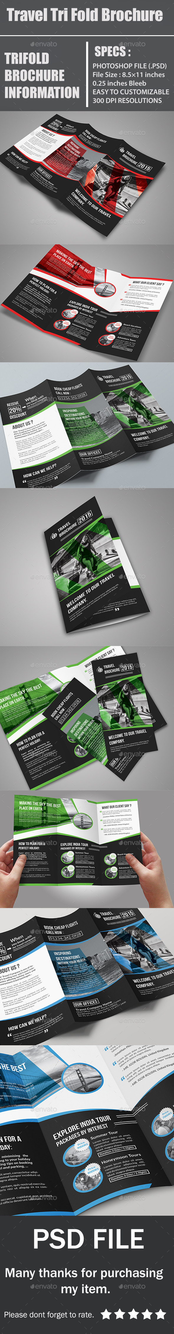 GraphicRiver Travel Tri Fold Brochure 11915877